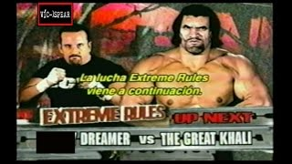 Tommy Dreamer vs  The Great Khali - Ecw 2007 - Subtitulado en Español Latino