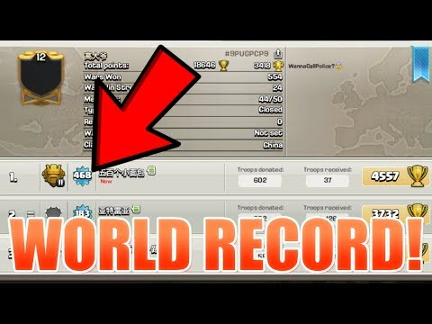 Clash of Clans - WORLDS HIGHEST LEVEL PLAYER! (WORLD RECORD)