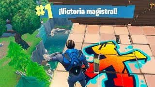 Masterful victory in the FIRST PARTY with the SKIN *CARBURO* in FORTNITE!!!