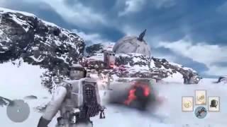 "Star Wars Battlefront Multiplayer Gameplay - ""Walker Assault"" on Hoth"