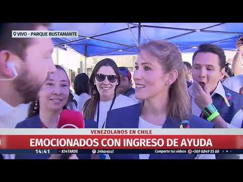 Venezolanos en Chile se encuentran reunidos en centro de acopio en Parque Bustamante