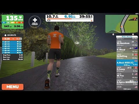 Zwift London/Outdoor run with MilestonePod (iPhone 7 Plus  iOS11 screen recording)