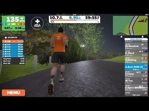 Zwift London/Outdoor run with MilestonePod (iPhone 7 Plus  iOS11 screen recording)