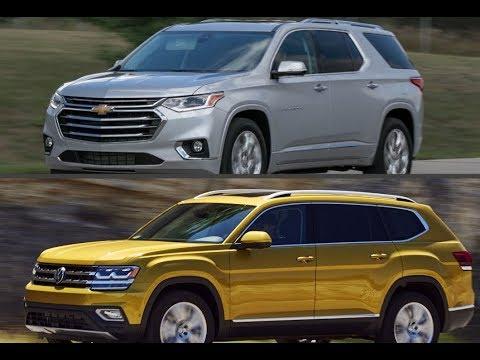 2018 Chevrolet Traverse 3-row seats vs. 2018 Volkswagen Atlas 3-row seats