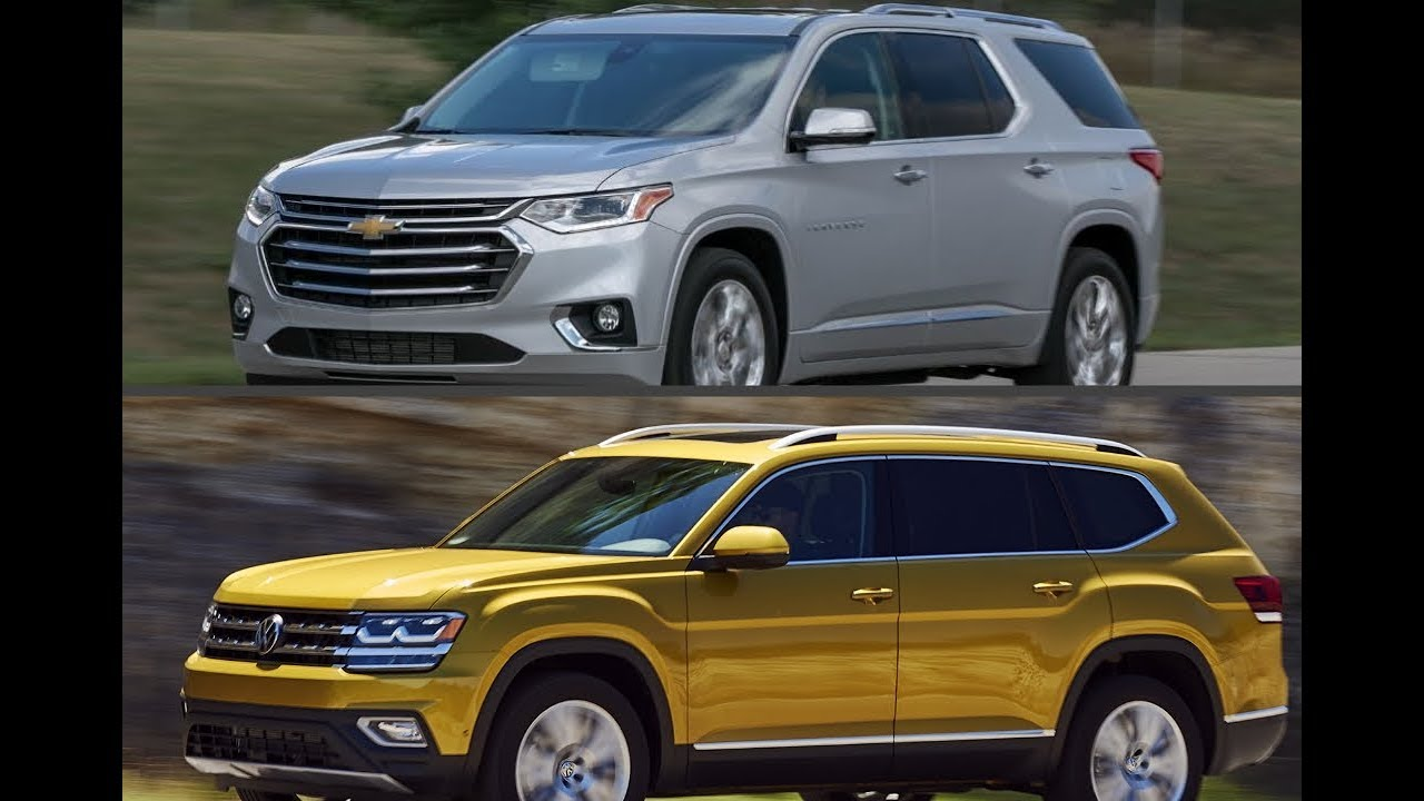 2018 Chevrolet Traverse 3-row seats vs. 2018 Volkswagen Atlas 3-row seats - YouTube
