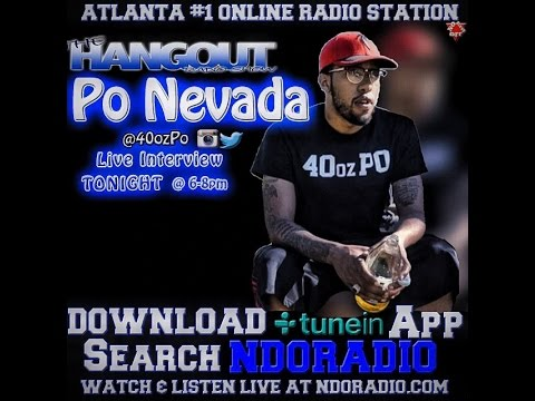 Po Nevada Live Interview with No Days Off Radio on The Hangout Radio Show