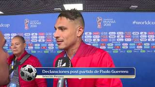Declaraciones Paolo Guerrero luego del Perú vs Dinamarca