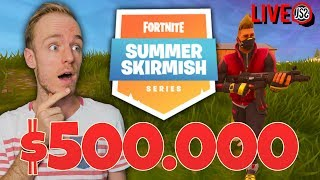 $500.000 WINNEN?! - Fortnite Summer Skirmish (deel 1/2)