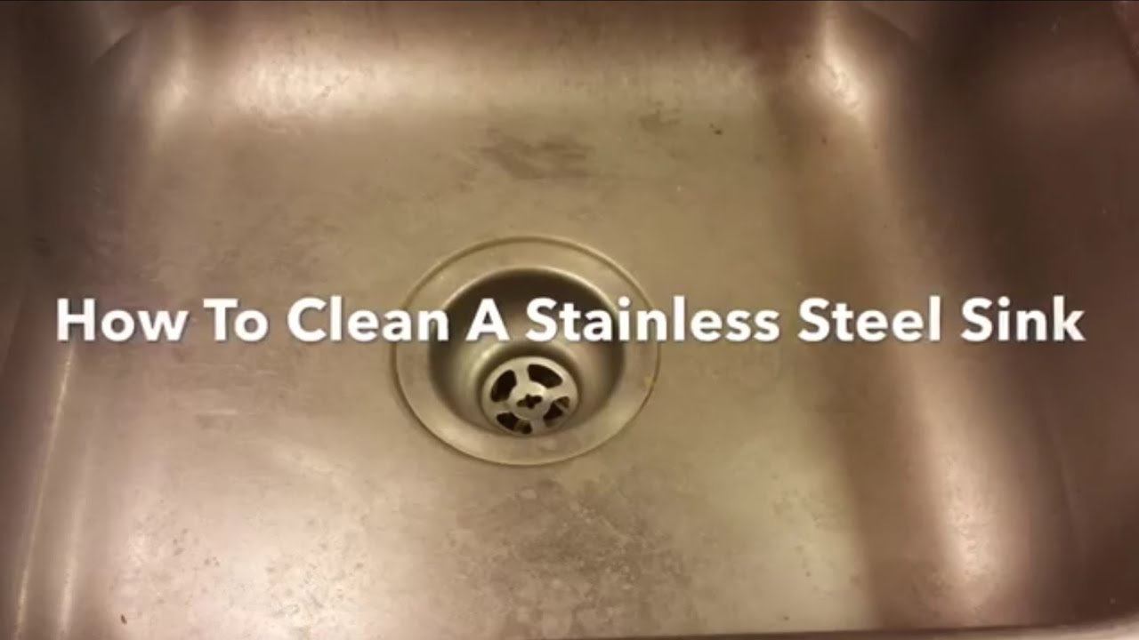 How To Clean A Stainless Steel Sink, Clean, Polish And Restore. Bar Keepers  Friend.   YouTube