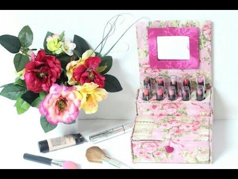Fabuloso Porta Maquiagem feito com Caixa de Leite - YouTube SP52