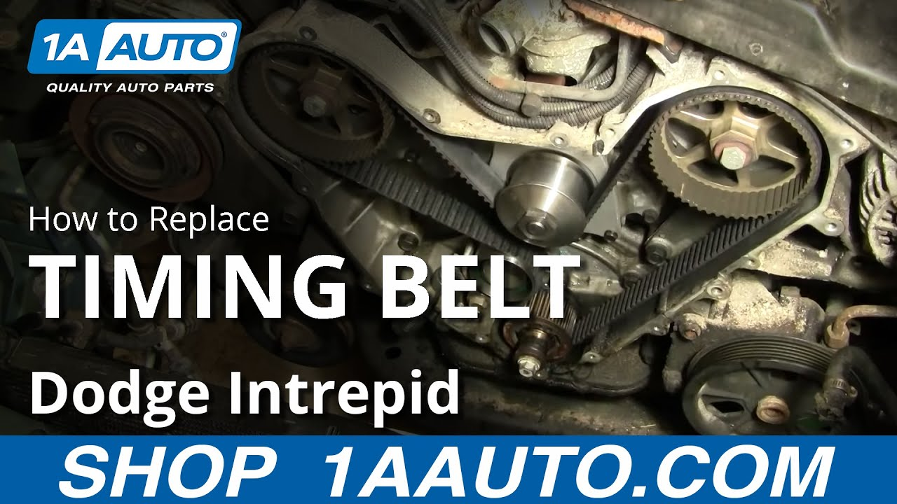 How To Change Engine Timing Belt Dodge Intrepid 35L 9597 Part 2 1AAuto  YouTube