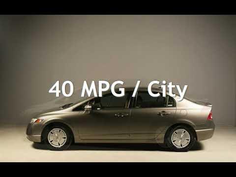 civic hybrid 2008 mpg