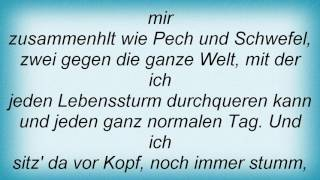 Reinhard Mey - What A Lucky Man You Are Lyrics