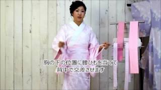 きもの京小町 女優 こばやしあきこ(きものん)ひとりでできる着物着付け講座 長襦袢編 小林亜紀子 検索動画 5