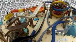 Донецкий аквапарк Аква сфера.(Вид на аквапарк Aqua Sferra с самой высокой башни парка. Подробная информация на http://otdyhoved.ru/, 2013-01-05T16:34:26.000Z)
