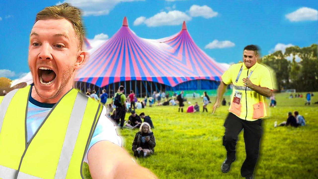Sneaking into a Music Festival as Bin Men
