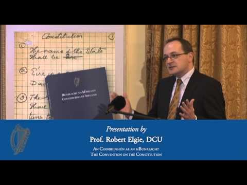 Presentation by Prof. Robert Elgie - Convention on the Constitution (26/01/13)