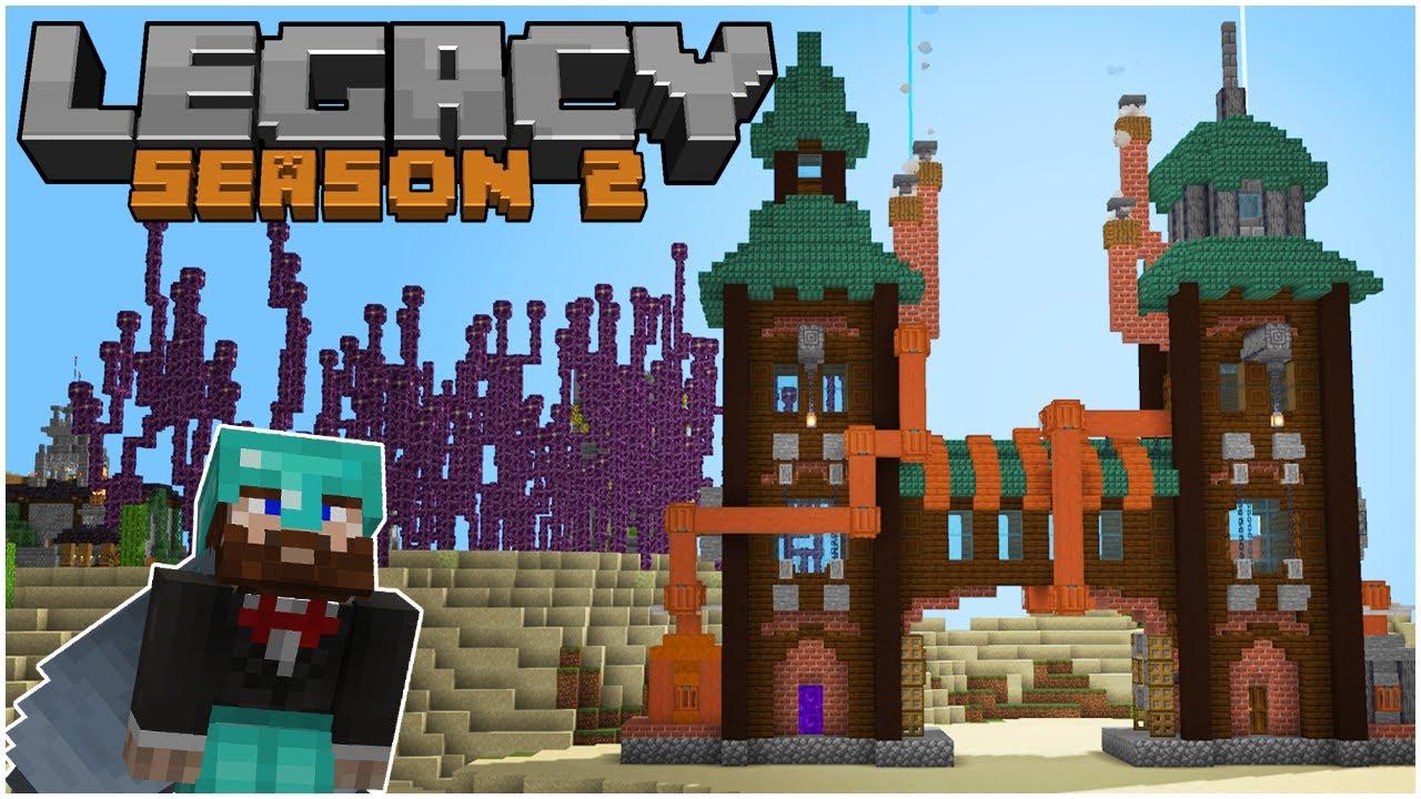 Minecraft Steam Punk Towers - Legacy SMP ( Season 2 Episode 2 )