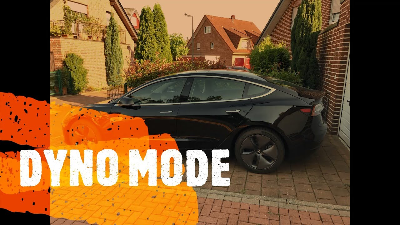 Beim Tesla Model 3 den DYNO MODE aktivieren.