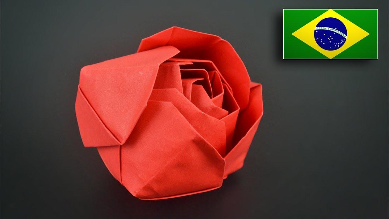 модуль оригами роза красная фото поделитесь друзьями семьей