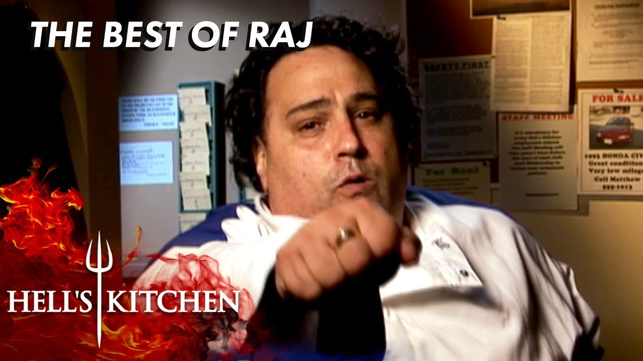 Every Raj Moment On Hell S Kitchen Youtube
