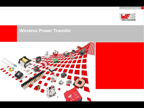 Würth Elektronik Webinar: Wireless Power Transfer