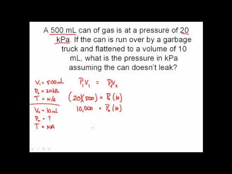 Solving Combined Gas Law Problems - Charles' Law, Boyle's