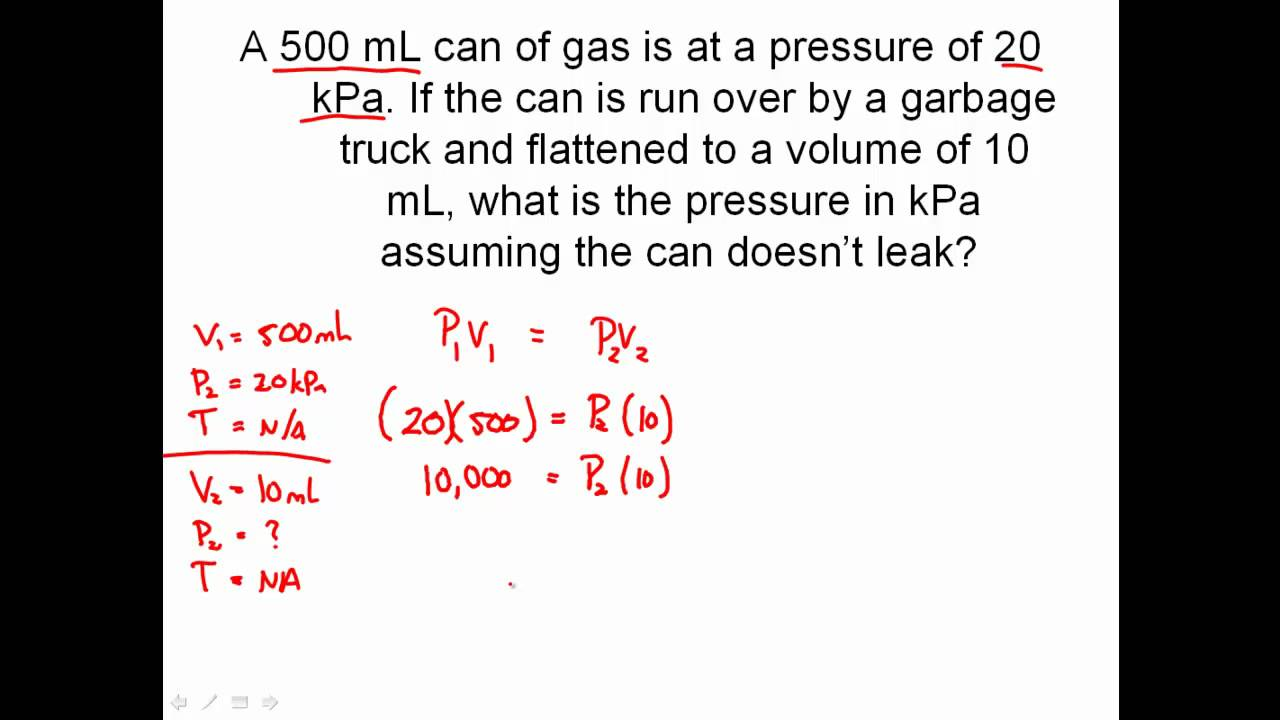 Solving Combined Gas Law Problems - Charles' Law, Boyle's ...