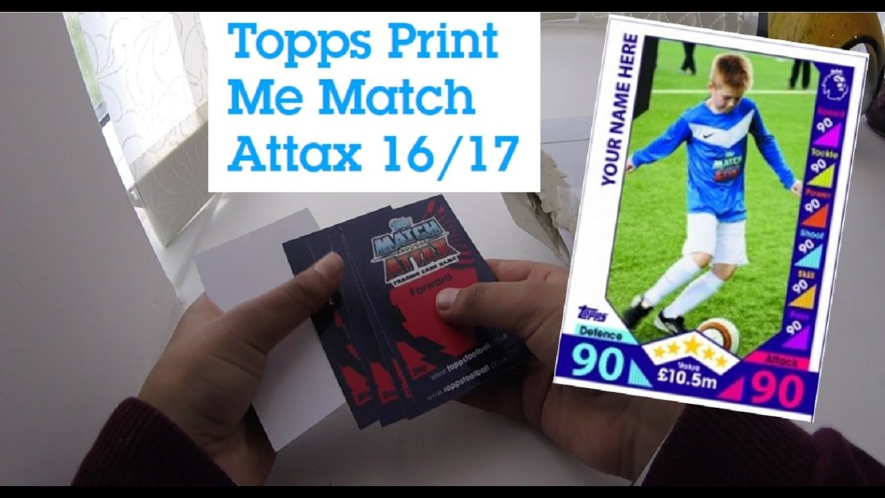 Match Attax - Print MeMake your own awesome Match