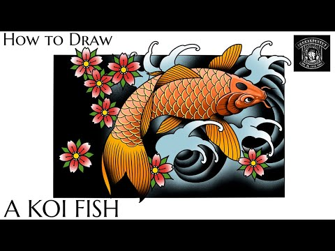 How To Draw A Koi Fish Step By Step | Daily Drawing Tutorial