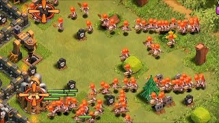 Clash of clans - 300 Valkyrie and 300 Healers on lvl 40 King!