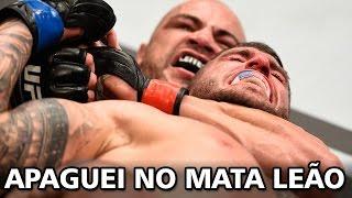 Glaico Nego do UFC, apagou o Trindade utilizando o estrangulamento ...