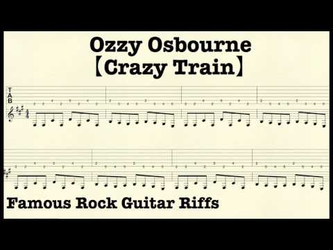 Guitar crazy train guitar tabs : Famous Rock Guitar Riffs with TABs【Crazy Train】OzzyOsbourne ...