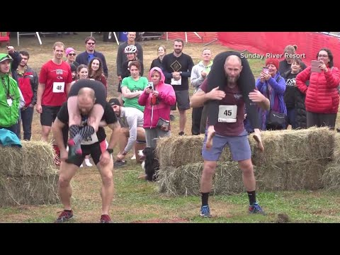 Tanner and Drew - Delaware Couple Win Wife Carrying Championship