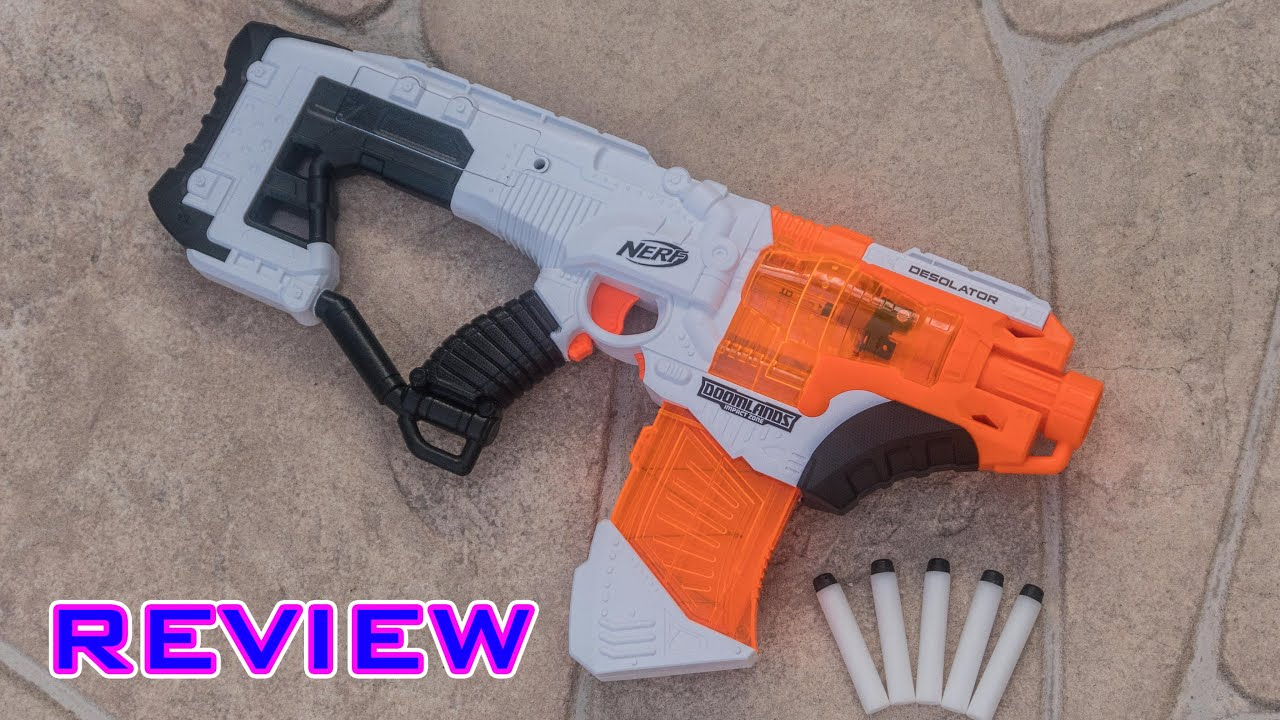 [REVIEW] Nerf Doomlands Desolator Unboxing Review & Firing Test
