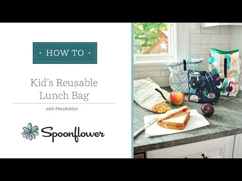 Kids' Reusable Lunch Bag | Spoonflower