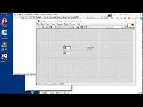 32. LabVIEW Create and Load DLL - Dynamic link library