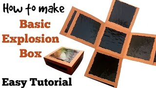 How to make basic Explosion Box | Friendship Day Gift Ideas |