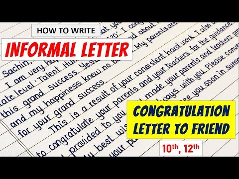 Letter Writing In English | Congratulation Letter In English | How To Write Informal Letters | Tips
