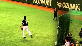 2012.7.7 巨人vs阪神 ライト外野席から 阪神タイガース 金本知憲 キャッ...