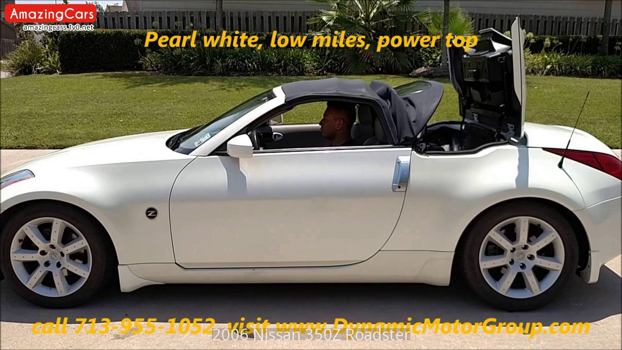 2006 nissan 350z roadster youtube 2006 nissan 350z roadster vanachro Choice Image