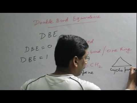 Double Bond Equivalence or Degree of unsaturation in Organic Chemistry for IIT/Medical