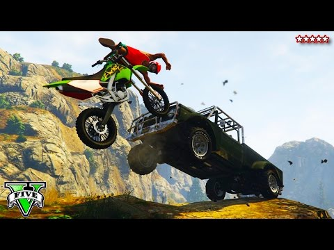 GTA 5 Next Gen: Custom DIRT BIKE OFF-ROADING   Epic GTA Stunts, Jump & Races (GTA Online)