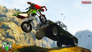GTA 5 Next Gen: Custom DIRT BIKE OFF-ROADING | Epic GTA Stunts, Jump & Races (GTA Online)