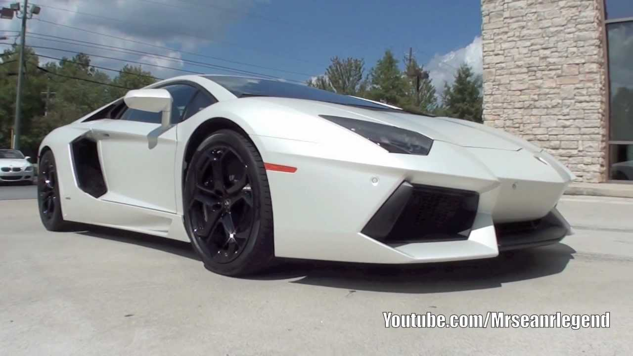 Matte White Lamborghini Aventador Lp700 4 Youtube