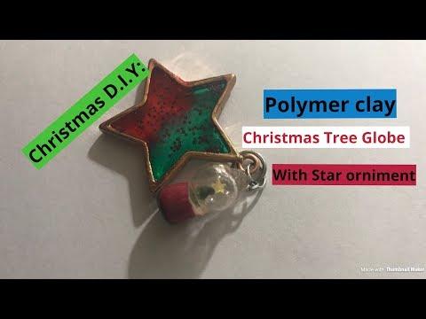 Christmas D.I.Y: Polymer Clay Christmas Tree Snow Globe Charm/ Ornament