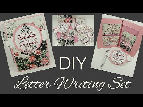 DIY Letter Writing Set   Video Tutorial
