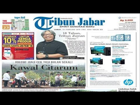 HEADLINE: Edisi Jumat 23 Februari 2018, Presiden Jokowi Kawal Perbaikan Citarum
