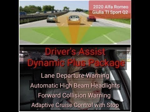 Adaptive Cruise Control & Forward Collision Warning on the 2020 Alfa Romeo Giulia