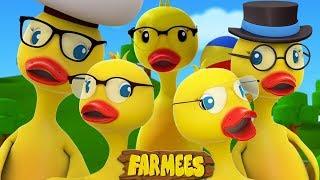 cinco grandes patos | canciones para niños | canciones infantiles | Five Big Ducks | Farmees Español